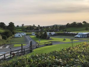 the ashes caravans at sunset